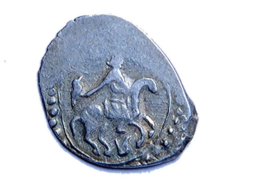 монета серпуховского княжества с соколом